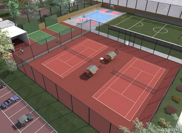 Canchas de tenis, fútbol, voley y frontón